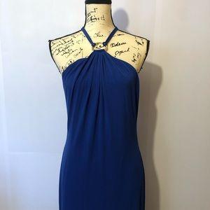 Calvin Klein Royal Blue Gold ring Maxi size 10